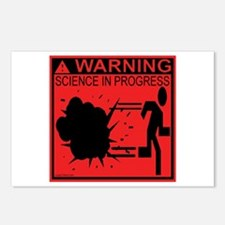 Science In Progress (red) Postcards (Package of 8)