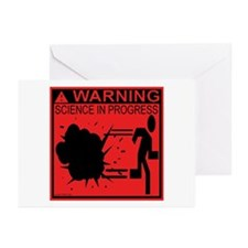 Science In Progress (red) Greeting Cards (Pk of 10
