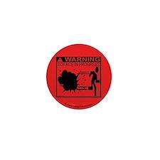 Science In Progress (red) Mini Button
