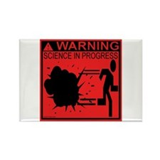Science In Progress (red) Rectangle Magnet