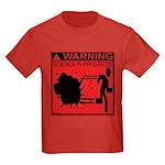 Science In Progress (red) Kids Dark T-Shirt