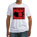 Science In Progress (red) Fitted T-Shirt