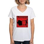 Science In Progress (red) Women's V-Neck T-Shirt