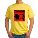 Science In Progress (red) Yellow T-Shirt