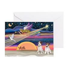 Xmas Star & JRT pair Greeting Card