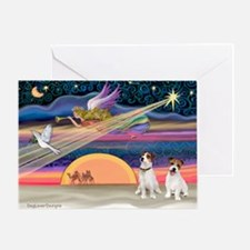 Xmas Star & JRT pair Greeting Card