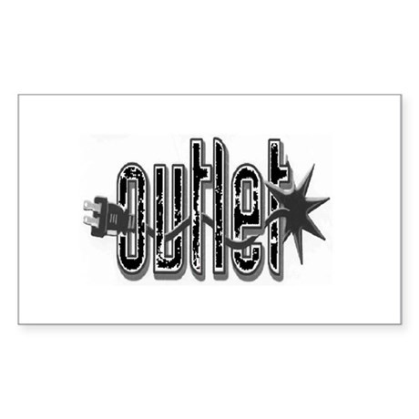 Outlet Rectangle Sticker