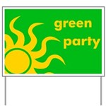 Green Party Yard Sign