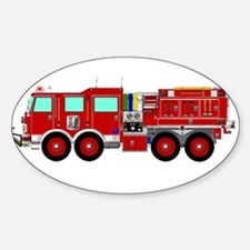 Red Brush Fire Truck Decal