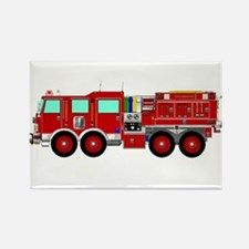 Red Brush Fire Truck Magnets