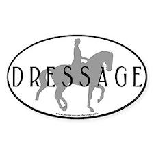Piaffe w/ Dressage Text Oval Decal