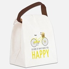 Makes You Happy Canvas Lunch Bag