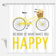 Makes You Happy Shower Curtain