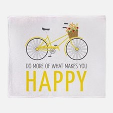 Makes You Happy Throw Blanket