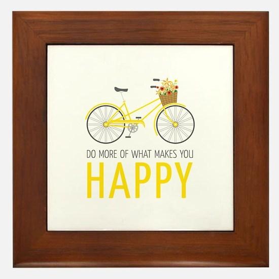 Makes You Happy Framed Tile