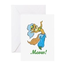 Belly Dancing Kitty Greeting Card