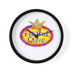 Scrapbook Queen Crown Wall Clock