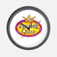 Scrapbook Queen Crown Wall Clock