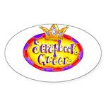 Scrapbook Queen Crown Sticker (Oval)