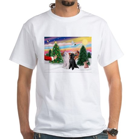 Treat/Two Poodles (ST) White T-Shirt