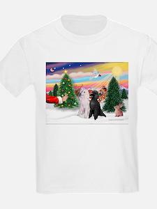 Treat/Two Poodles (ST) T-Shirt