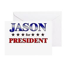 JASON for president Greeting Card