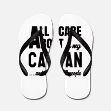 All I care about is my Canaan Dog Flip Flops