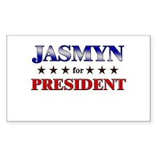 JASMYN for president Rectangle Decal