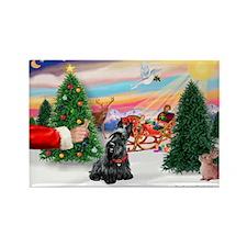 SantasTreat/Scottie #4 Rectangle Magnet