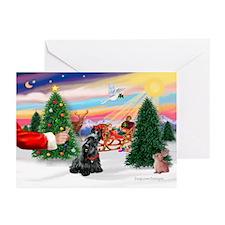 SantasTreat/Scottie #4 Greeting Cards (Pk of 20)