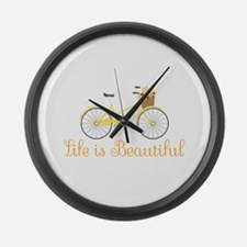 Life Is Beautiful Large Wall Clock