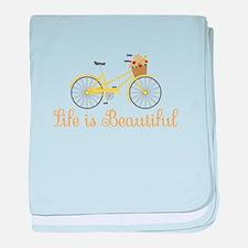 Life Is Beautiful baby blanket