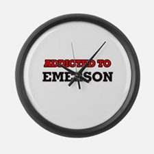 Addicted to Emerson Large Wall Clock