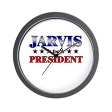 JARVIS for president Wall Clock