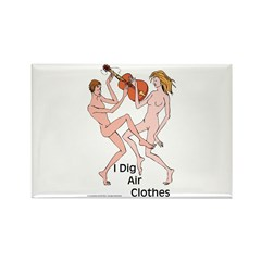 Air guitar or air clothes? Rectangle Magnet (100