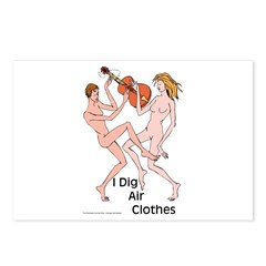 Air guitar or air clothes? Postcards (Package of