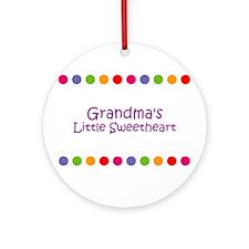 Grandma's Little Sweetheart Ornament (Round)