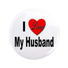 "I Love My Husband 3.5"" Button"