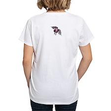 flying piggie women's v-neck t-shirt