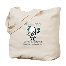 Teal Ribbon - Hero Mom Tote Bag