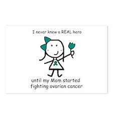 Teal Ribbon - Hero Mom Postcards (Package of 8)