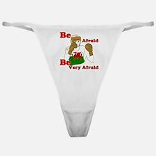 Be afraid Wales boxing Classic Thong