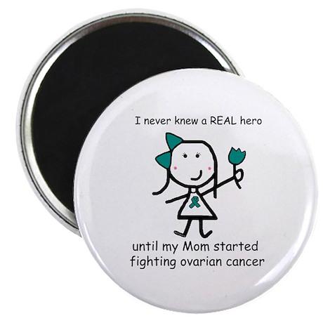 Teal Ribbon - Hero Mom Magnet