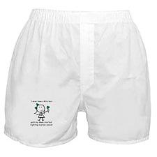 Teal Ribbon - Hero Mom Boxer Shorts