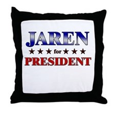 JAREN for president Throw Pillow