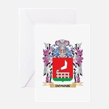 Dominik Coat of Arms (Family Crest) Greeting Cards