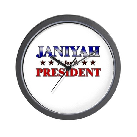 JANIYAH for president Wall Clock