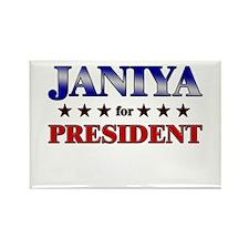 JANIYA for president Rectangle Magnet