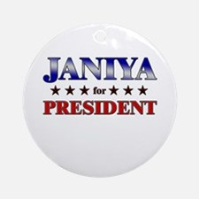 JANIYA for president Ornament (Round)