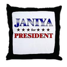 JANIYA for president Throw Pillow